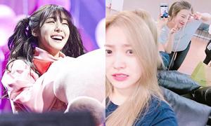 Sao Hàn 2/8: Tiffany cười không thấy mắt, Joy nhí nhảnh hơn em út Yeri