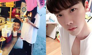 Sao Hàn 3/8: Lee Jong Suk phanh cổ áo sexy, Dara đi ăn với 'Song Joong Ki'