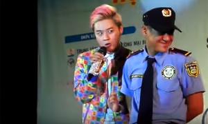Màn vừa hát vừa trêu chọc anh bảo vệ của Thanh Duy Idol