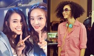 Sao Việt 7/8: Ngọc Thảo nhí nhảnh selfie cùng Dara, Ngô Thanh Vân tóc xù 'đẹp trai'