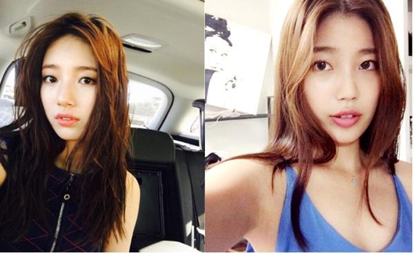 Tình đầu quốc dân xứ Hàn Bae Suzy có không ít bản sao, từ diễn viên người   Nhật đến nữ sinh cấp 3. Mới đây, cộng đồng mạng Hàn Quốc bất ngờ truyền tay   nhau những hình ảnh của một cô gái giống nữ diễn viên Yêu không kiểm soát đến   80%.