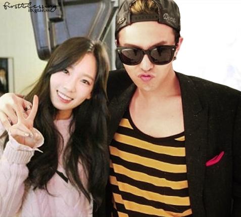 Tae Yeon và G-Dragon chưa từng tiếp xúc nhưng trên mạng đã có rất nhiều tin đồn, ảnh do fan ghép, fanfic viết về 2 ngôi sao.