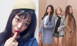 Sao Hàn 12/8: Tae Yeon mặt baby nhất nhóm, Sulli đội vỏ dưa lên đầu