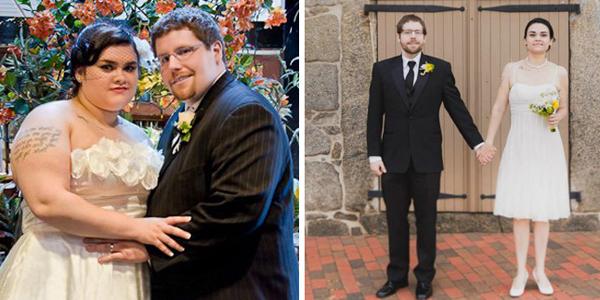 Kỷ niệm 4 năm ngày cưới, cặp đôi này quyết định chụp lại ảnh cưới, nhưng với thân hình khác hẳn. Họ đã mất một năm rưỡi để giảm cân.