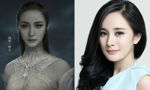 Sao Hoa ngữ bị thợ photoshop 'hại' khi chụp poster phim