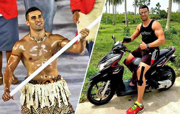 Pita Taufatofua, 33 tuổi, là võ sĩ Taekwondo đầu tiên của đảo quốc Tongan tham   gia tranh tài tại Olympic. Pita bắt đầu sự nghiệp thể thao khi lên 5. Anh từng làm   người mẫu từ năm 18 tuổi và có bằng kỹ sư. Pita gây chú ý khi cầm cờ Tongan   dẫn đoàn thể thao nước này với cơ thể bôi đầy dầu bóng.