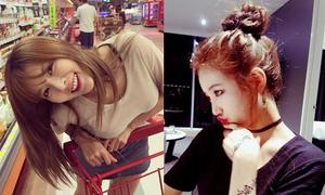 Sao Hàn 25/8: Suzy búi tóc dễ thương, Hyun Ah mặc áo siêu mỏng lộ nội y