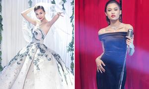 Thanh Hằng diện váy cưới tiền tỷ, Fung La sang trọng như diva