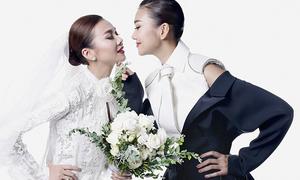 Thanh Hằng hạnh phúc khi làm đám cưới với... chính mình