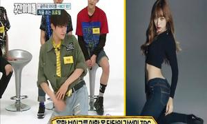 Trai đẹp nhà SM thi tạo dáng sexy với Hani EXID