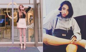 Sao Hàn 30/8: Ji Yeon lộ chân khẳng khiu, Bora ngồi như đàn ông