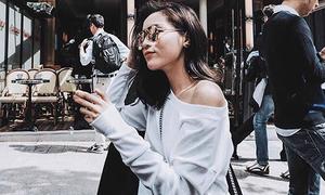 Sao Việt sốt với mốt áo lệch vai hot nhất cho mùa lạnh