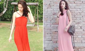 Sao style 5/9: Sa Lim xinh yêu đầm hồng, Thu Thảo thướt tha váy đỏ