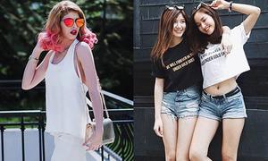 Sao style 6/9: An Japan khoe chân thon, Andrea cá tính như Harley Quinn