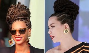 Hà Hồ, Lan Ngọc theo mốt tóc tết châu Phi hot nhất Hollywood