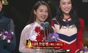 Nhã Phương được vinh danh cùng Song Joong Ki, Shin Min Ah