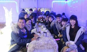Quán cà phê lạnh - 10 độ C khiến giới trẻ Sài Gòn thích thú