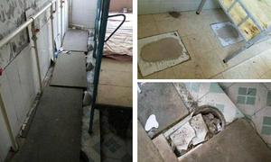 Ký túc xá bẩn thỉu được cải tạo từ... nhà vệ sinh