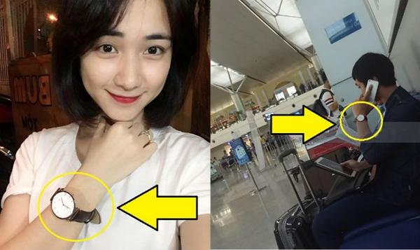 Hòa Minzy - Công Phượng từng để lộ nhiều hình ảnh xài đồ đôi từ vòng tay, đồng hồ, nón...