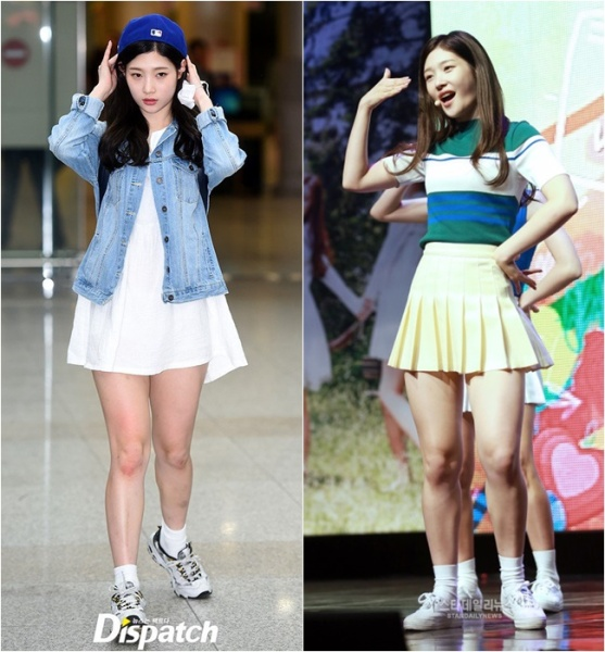 Đôi chân kém nuột của Chae Yeon.