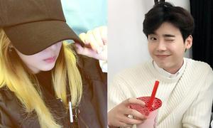 Sao Hàn 22/9: Dara đổi màu tóc cực chất, Lee Jong Suk nháy mắt cười duyên