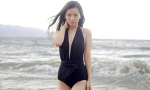Chán style bánh bèo, Hạ Anh diện bikini khoe vòng eo 58