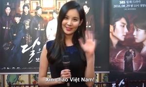Dàn sao 'Người tình ánh trăng' chào fan bằng tiếng Việt