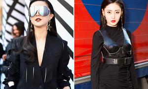 Phạm Băng Băng sắc lạnh đối đầu Trương Thiên Ái ở show Louis Vuitton