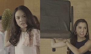 4 màn đánh ghen 'kinh hồn bạt vía' trong phim Thái