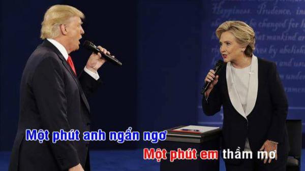 tranh-luan-trump-clinton-thanh-man-hat-karaoke-suot-muot