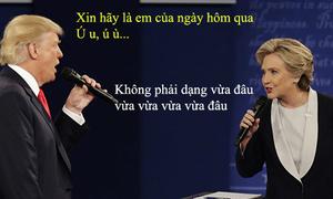 Tranh luận Trump-Clinton thành màn hát Karaoke sướt mướt