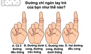 Đường chỉ ngón tay trỏ tiết lộ điều gì về bạn