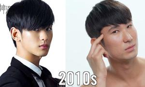 Style tóc khác biệt qua 100 năm của con trai Hàn