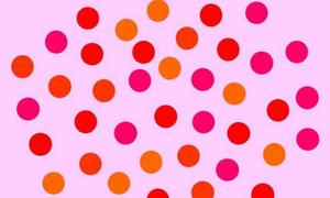 Bạn có đủ khả năng tập trung để đếm đúng số chấm đỏ ?