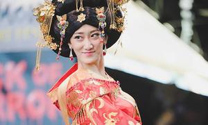 Hoa hậu Trung Quốc bị chê như 'Thành Long mặc váy'