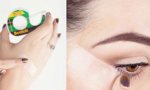 Sau thìa, băng dính trở thành phụ kiện makeup 'toàn năng'