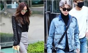 Na Eun, Ji Min mặc đẹp nhất dàn sao đến Music Bank