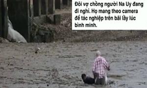 Chàng trai nằm rạp xuống bùn, cứu du khách sa lầy