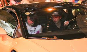 Cường Đô la lái siêu xe đưa Hạ Vi đi sự kiện