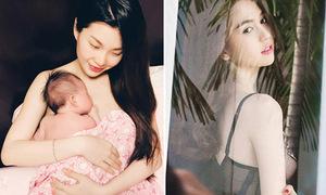 Sao Việt 28/10: Diễm Trang khoe con gái, Ngọc Trinh mặc nội y mỏng như sương