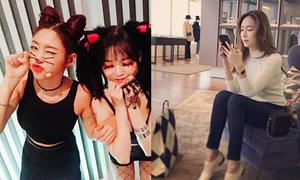 Sao Hàn 29/10: Seol Hyun hóa mèo dễ thương, Jessica đi shopping sang chảnh