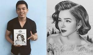 Thêm một chàng trai Việt được lên báo Mỹ vì tài vẽ tranh mỹ nhân