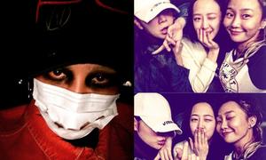 Sao Hàn 1/11: G-Dragon bôi mắt đen xì dọa ma, Hyo Rin vô tư để lộ trán rộng