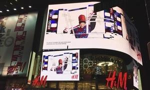 Ảnh Suboi làm đại sứ H&M x Kenzo treo khắp Quảng trường Thời đại