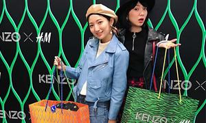 Dẫu khó mặc, đồ H&M x Kenzo vẫn được mua sắm rộn ràng