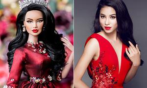 'Bản sao búp bê' của Phạm Hương lên ngôi Á hậu 1 HH búp bê thế giới