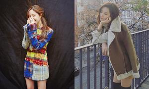 Sao Hàn 10/11: Seo Hyun - Hyo Min mặc váy ngắn bất chấp trời lạnh