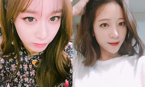 Sao Hàn 11/11: Ji Yeon làm mặt lạnh vẫn xinh, Hani vuốt tóc khoe mặt V-line