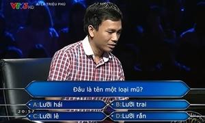 Người chơi 'Ai là triệu phú' xin trợ giúp từ câu hỏi đầu tiên