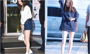 Đôi chân thon dài đáng ghen tỵ của Krystal